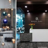 River Park Place Lobby + Developed by Intracorp + Interior Design by Insight Design Group